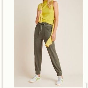 Anthropologie Billie Textured Joggers